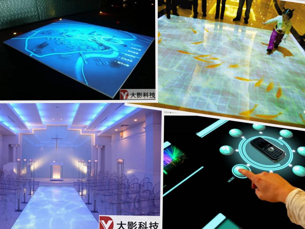 多点触控属于感应式互动投影系统主要针对新型多媒体内容展示而设计.